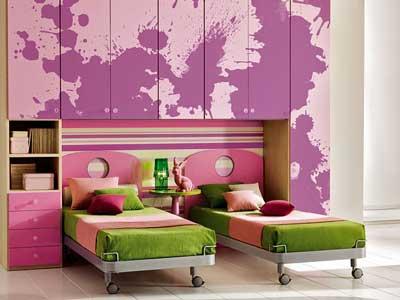 Интерьер комнаты для двоих деток.