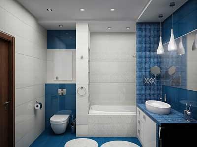 Верный интерьер ванной комнаты.