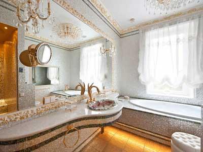 Как сделать элитный интерьер в ванной комнате.