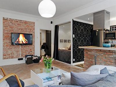 5 идей дизайна однокомнатной квартиры.