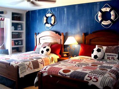 Элегантная комната для мальчугана-ребенка.