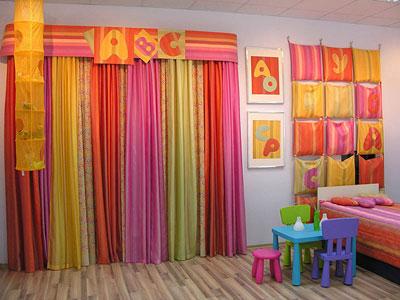 Шторы для ребяческой комнаты.