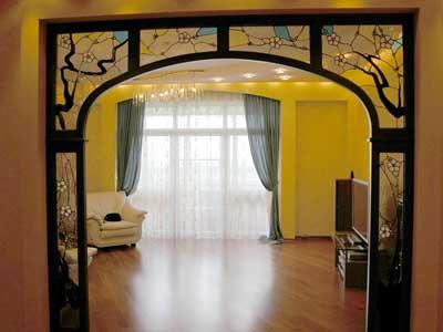 Деревянные арки в интерьере квартиры.