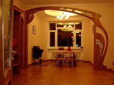Древесные арки в интерьере квартиры.