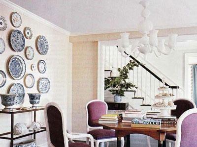 Декоративные настенные тарелки в интерьере.